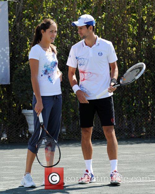 Ana Ivanovic and Novak Djokovic Tony Bennett's All-Star...