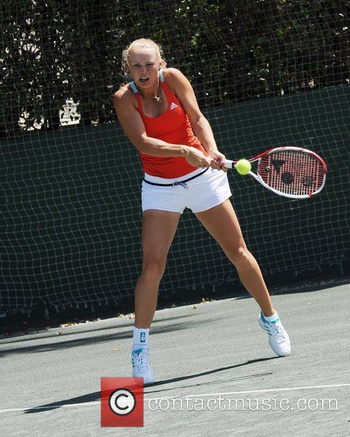 Caroline Wozniacki  Tony Bennett's All-Star Tennis Event...