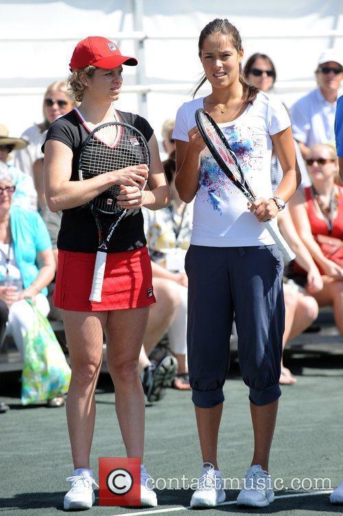 Kim Clijsters and Ana Ivanovic Tony Bennett's All-Star...