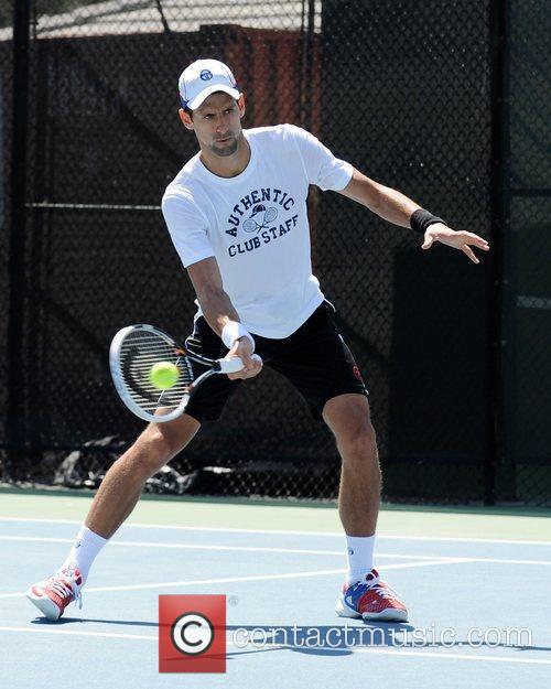 Novak Djokovic Tony Bennett's All-Star Tennis Event at...