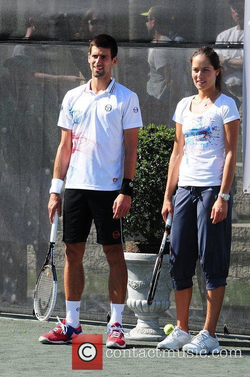 Novac Djokovic and Ana Ivanovi  Tony Bennett's...