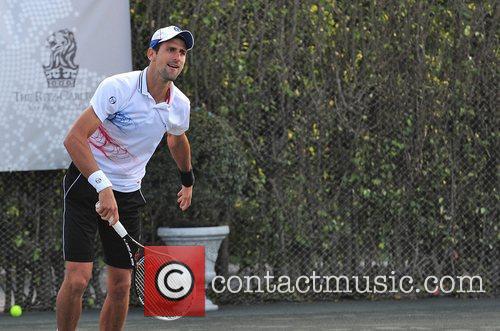 Novac Djokovic Tony Bennett's All-Star Tennis Event at...