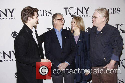 Andrew Garfield, Linda Emond, Mike Nichols, Philip Seymour Hoffman and Times Square 2