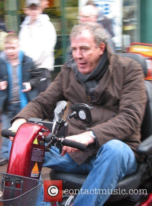 Jeremy Clarkson races his Top Gear co-presenters on...
