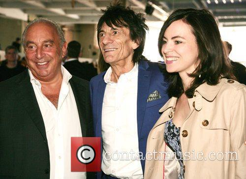 Sir Phillip Green and Ronnie Wood with Sally...