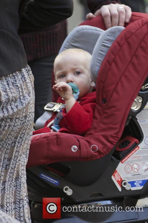 Finn McDermott Tori Spelling and her family visit...