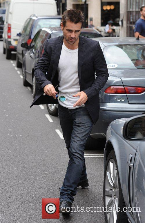 Colin Farrell  out and about on a...