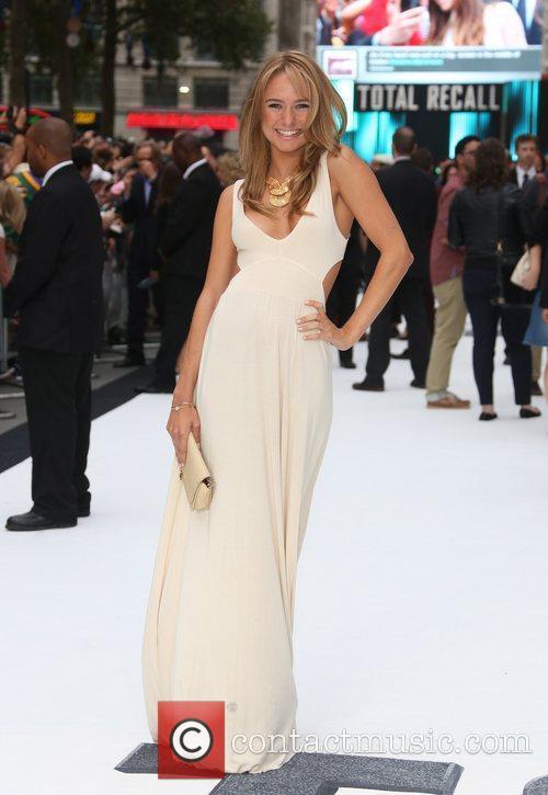 Kimberly Garner London premiere of 'Total Recall' held...