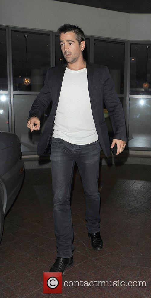 Colin Farrell leaving a private screening of the...