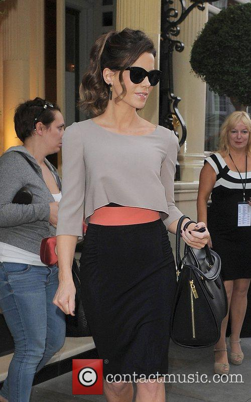 Kate Beckinsale leaving a private screening of the...