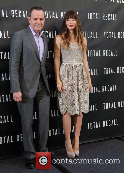 Bryan Cranston, Jessica Biel Los Angeles photocall for...