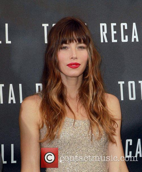 Jessica Biel Los Angeles photocall for 'Total Recall',...