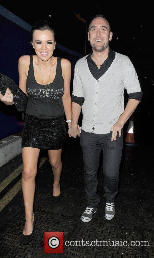 Maria Fowler and her boyfriend Lee Croft leaving...
