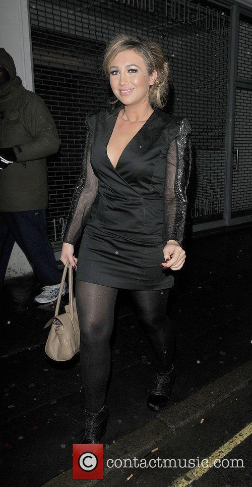 Lauren Goodger leaving Loop Bar. 15.12.11
