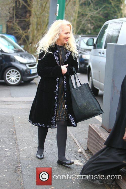 Debbie Douglas  arriving at a nightclub to...