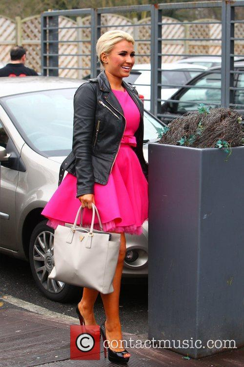 Billie Faiers  arriving at a nightclub to...