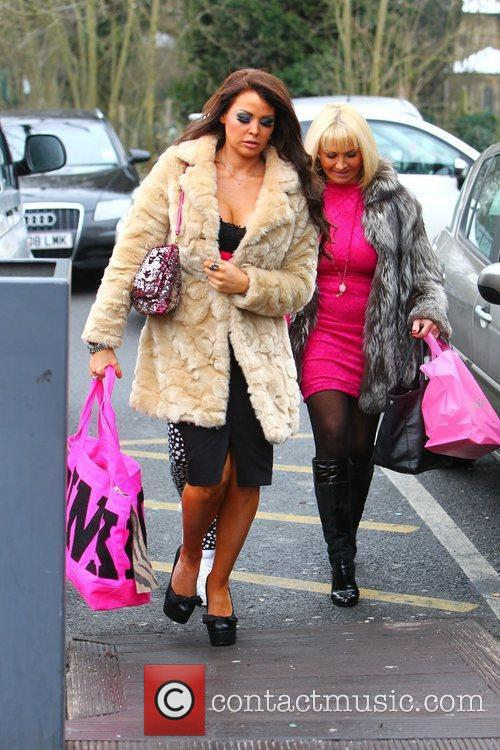 Carol Wright and daughter Jessica Wright  arriving...
