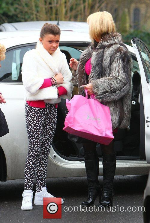 Carol Wright and daughter Natalya Wright  arriving...