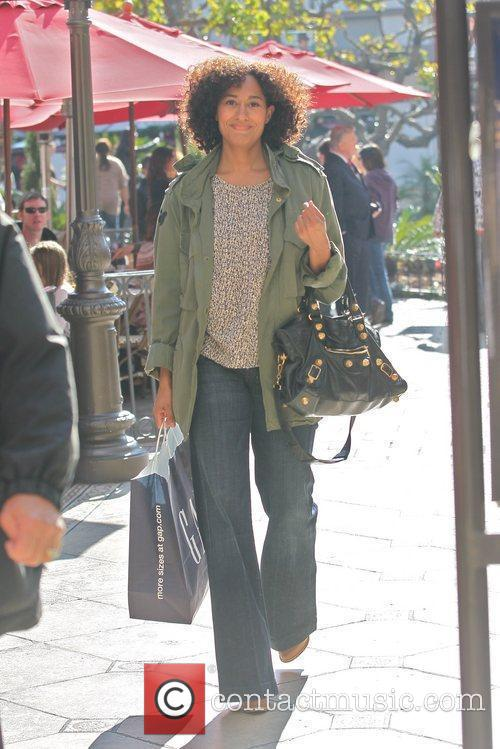 Tracee Ellis Ross out shopping at The Grove...
