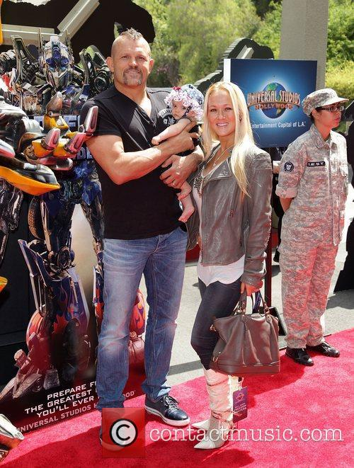 Chuck Liddell and family World Premiere Of Universal...