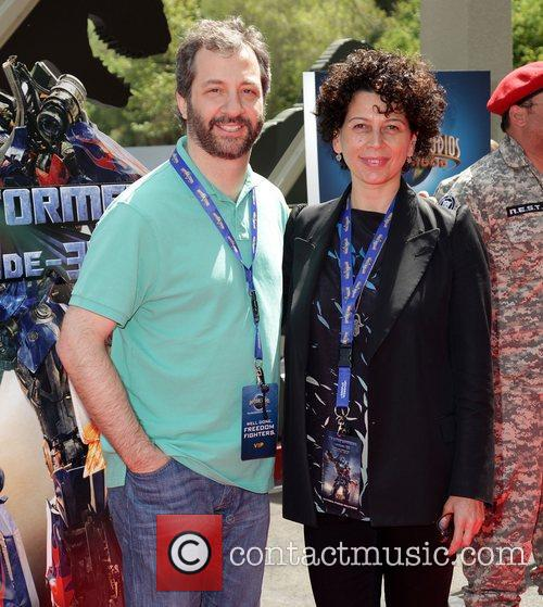 Judd Apatow and guest World Premiere Of Universal...