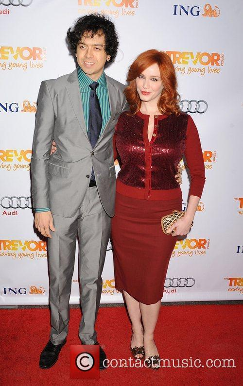 geoffrey arend and christina hendricks at the 3643536