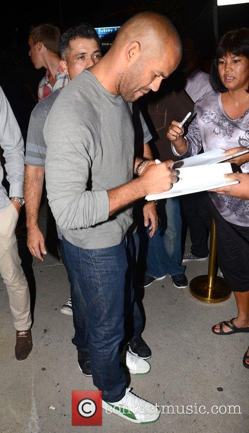 Amaury Nolasco leaves the Trousdale Lounge in West...