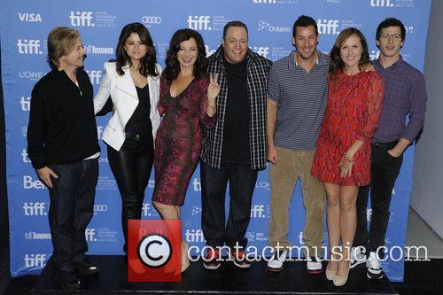 David Spade, Adam Sandler, Andy Samberg, Fran Drescher, Kevin James, Molly Shannon and Selena Gomez