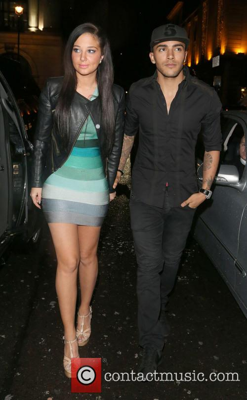 Tulisa Contostavlos and Danny Simpson 2