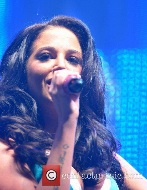 tulisa contostavlos performs on stage at indemand 3894097