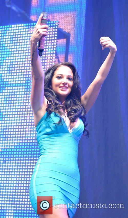 tulisa contostavlos performs on stage at indemand 3894101