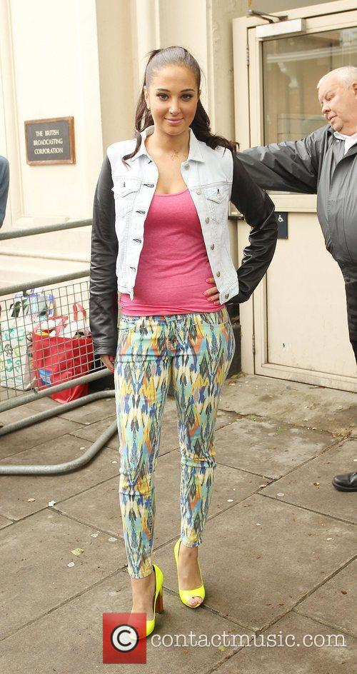 Leaving the BBC Maida Vale studios after performing...