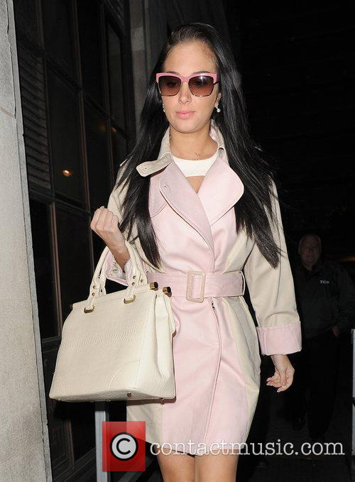 tulisa contostavlos arriving at the bbc radio 3814248