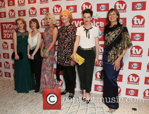 Call the Midwife cast The TVChoice Awards 2012...
