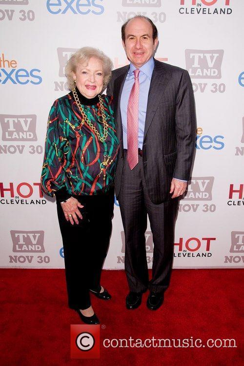 Betty White and Philippe Dauman TV Land holiday...