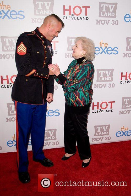 Betty White and Staff Sgt Eric Worth TV...