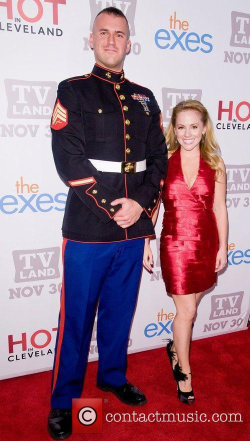 Kelly Stalbes and Staff Sgt Eric Worth TV...
