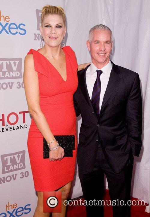 Kristen Johnston and Tom Krauss TV Land holiday...