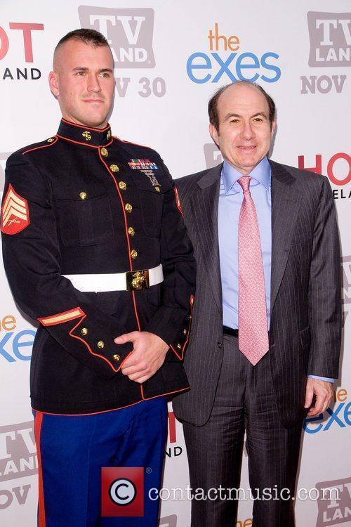 Staff Sgt Eric Worth and Philippe Dauman TV...