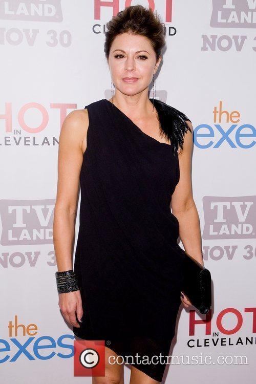 Jane Leeves TV Land holiday premiere party for...