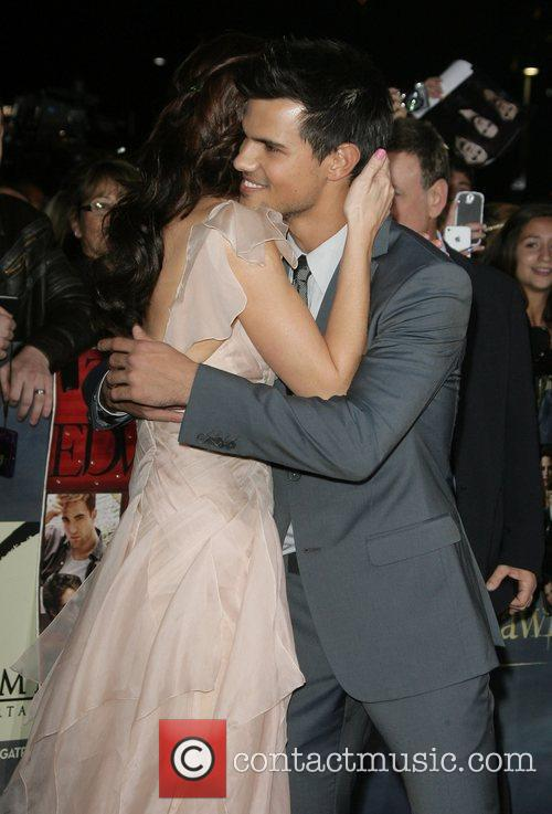Ashley Greene and Taylor Lautner The premiere of...