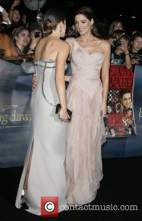 Nikki Reed and Ashley Greene The premiere of...