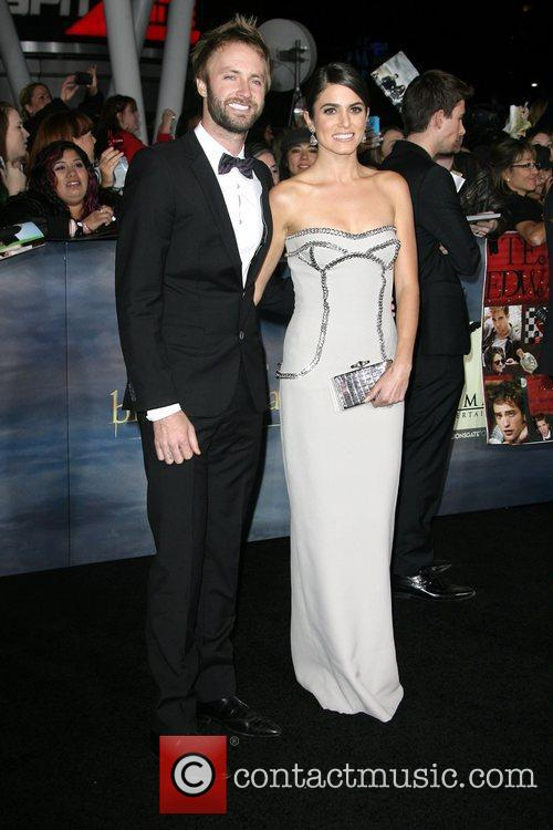 Nikki Reed with husband Paul McDonald The premiere...