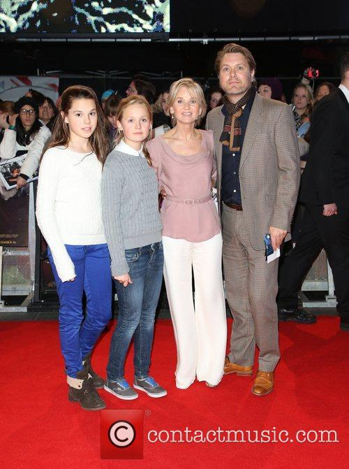 Lisa Maxwell with her husband and children The...