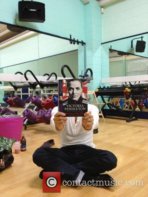Brendan Cole posted this picture with Victoria Pendleton's...