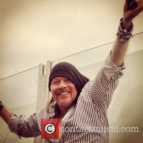 Axl Rose tweeted this photo with the caption,...