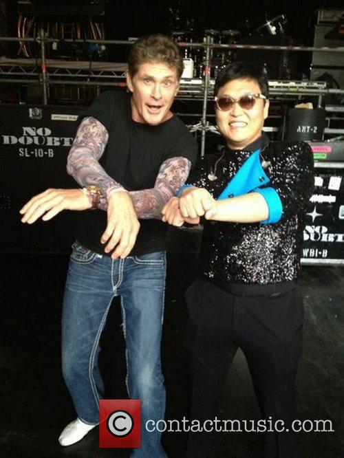 David Hasselhoff, Psy, Twitter and Getting