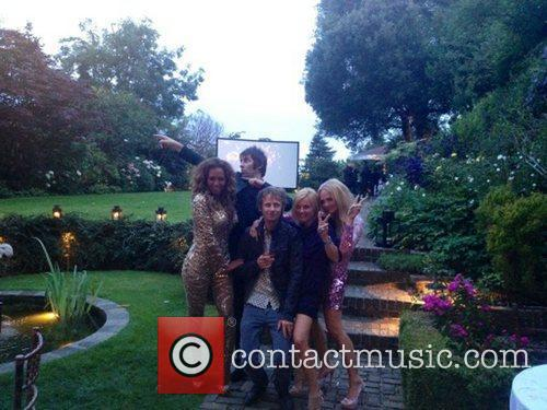 Mel B, Emma Bunton, Geri Halliwell and Liam Gallagher