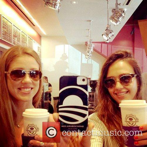 Jessica Alba tweeted this photo with the caption,...