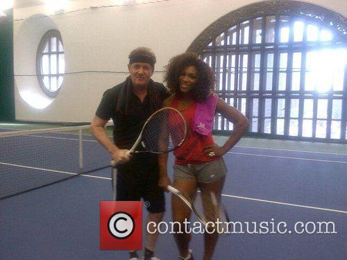 Piers Morgan and Serena Williams